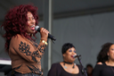 Chaka Khan performing at the Congo Square stage during the New Orleans Jazz Fest Friday, May 2, 2014.